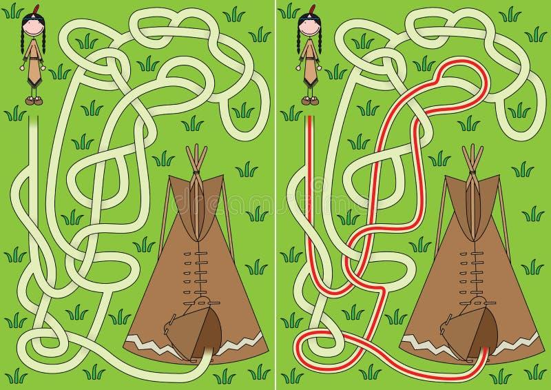 Labirinto dei tipi illustrazione di stock