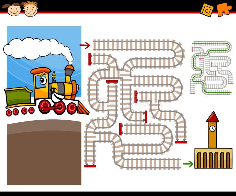 Labirinto del fumetto o gioco del labirinto illustrazione di stock