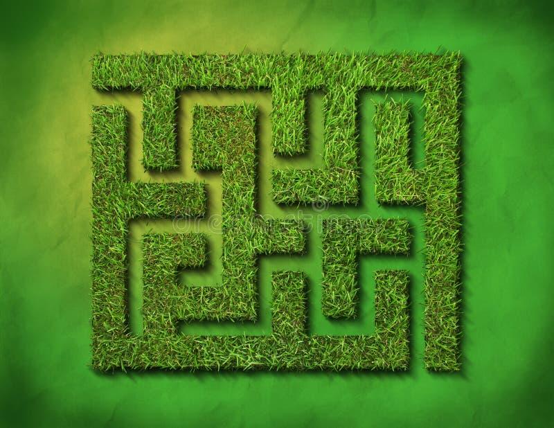 Labirinto dell'erba verde fotografia stock libera da diritti
