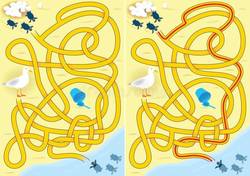 Labirinto della tartaruga royalty illustrazione gratis