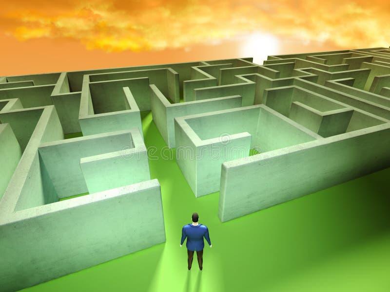 Labirinto di affari illustrazione di stock