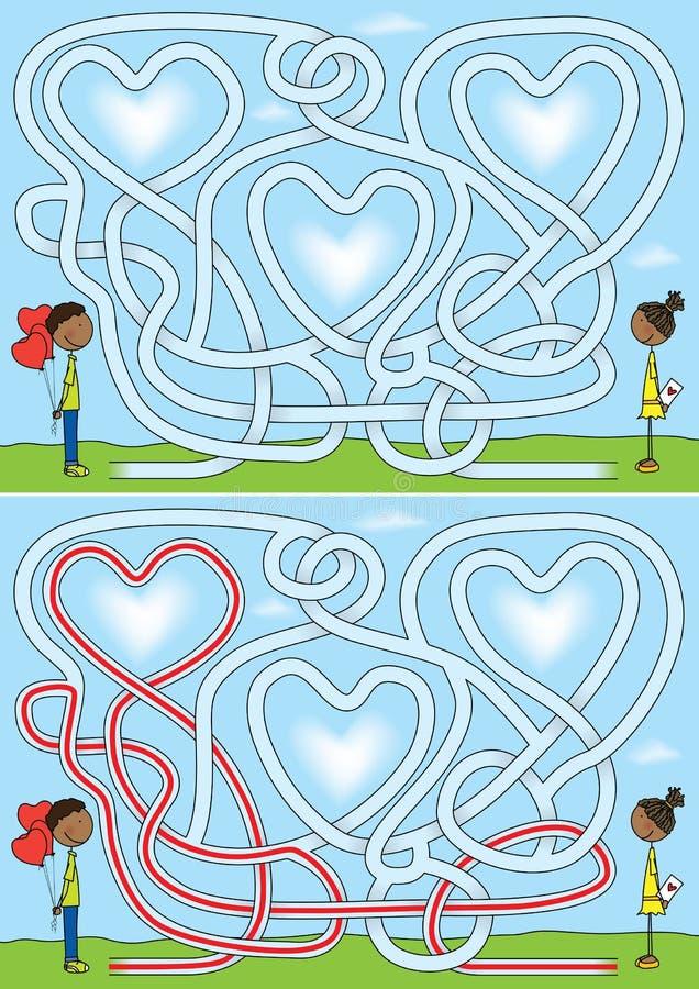 Labirinto di amore illustrazione di stock