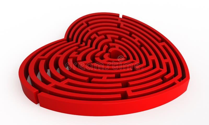 Labirinto di amore royalty illustrazione gratis