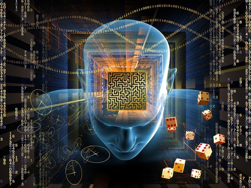 Labirinto di mente illustrazione vettoriale