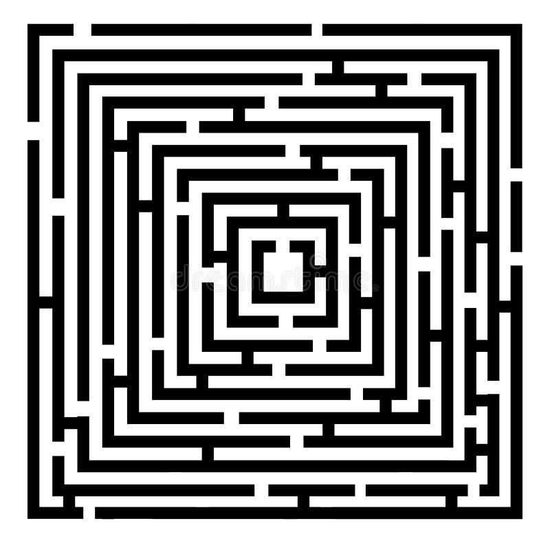 Labirinto di vettore illustrazione di stock