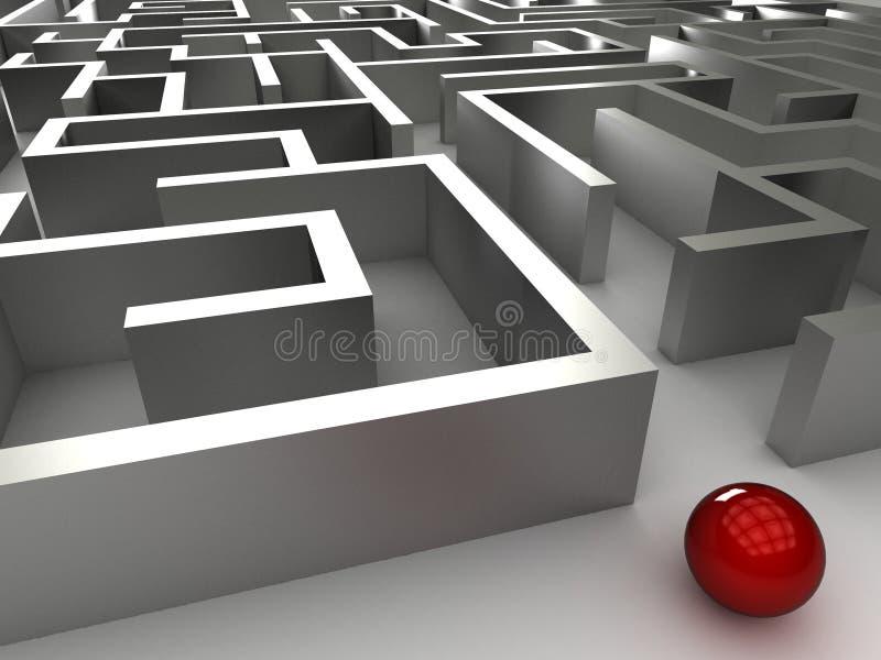 labirinto do aço 3D ilustração do vetor