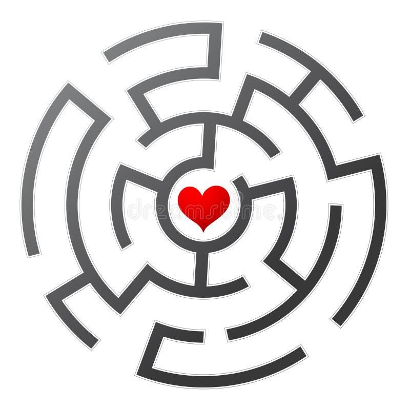 Labirinto do amor ilustração royalty free