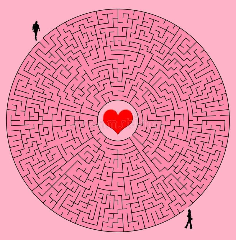 Labirinto do amor ilustração stock