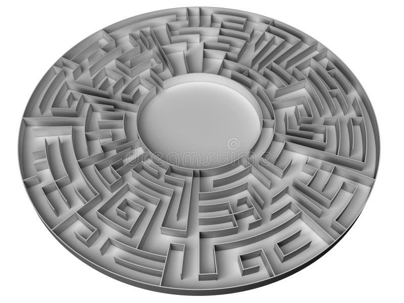 Labirinto do anel ilustração do vetor