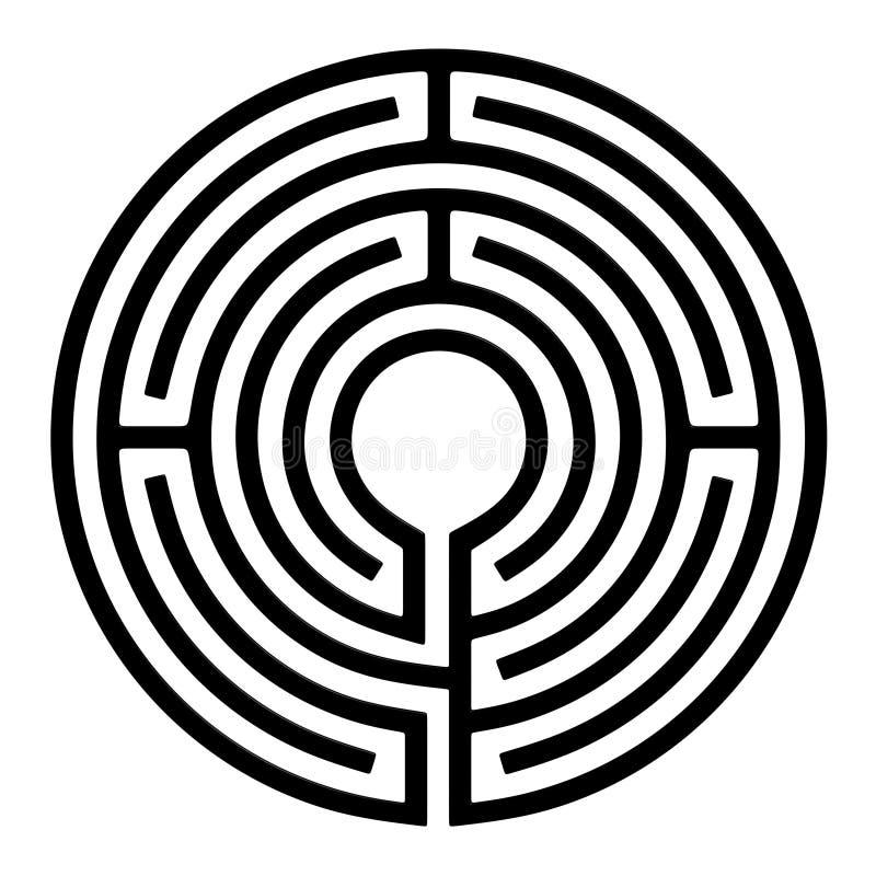 Labirinto do círculo imagem de stock royalty free