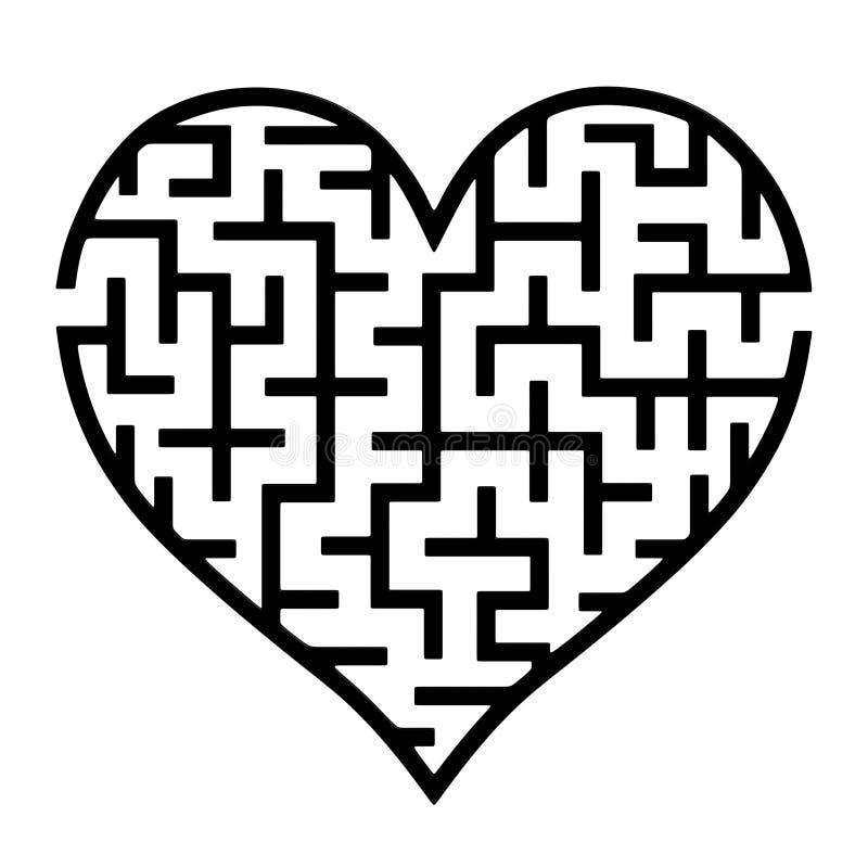 Labirinto do coração imagens de stock royalty free