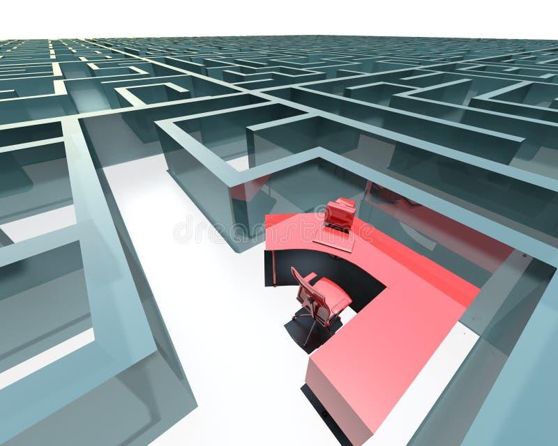 Labirinto do escritório ilustração do vetor