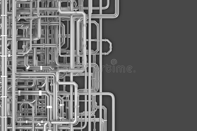Labirinto do fundo das tubulações ilustração royalty free