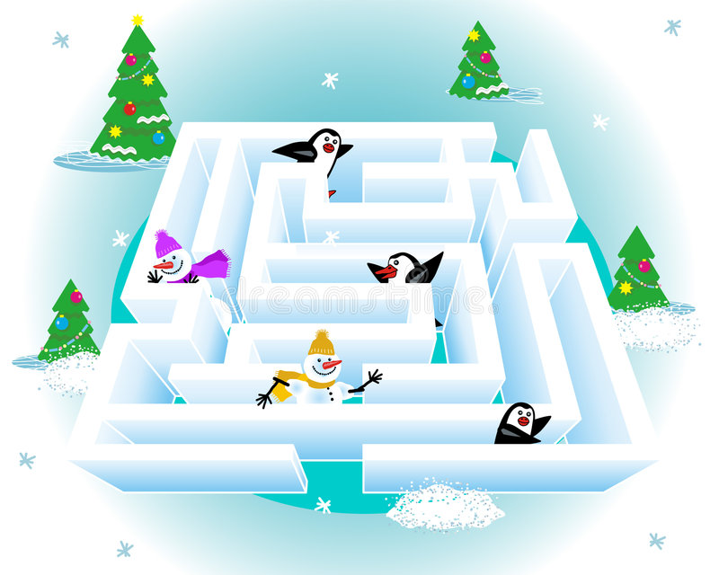 labirinto do gelo 3d ilustração do vetor