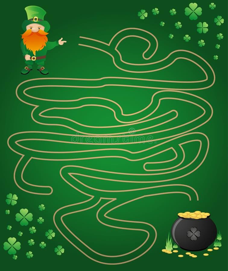 Labirinto Do Leprechaun Imagem de Stock