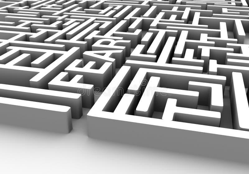 Labirinto do medo ilustração stock