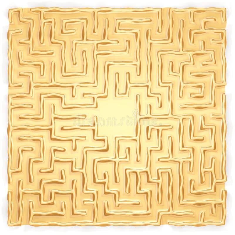 Labirinto do ouro imagem de stock