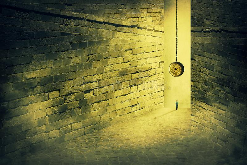 Labirinto do tempo foto de stock royalty free