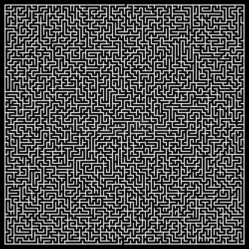 Labirinto do vetor Labirinto com entrada e saída ilustração stock