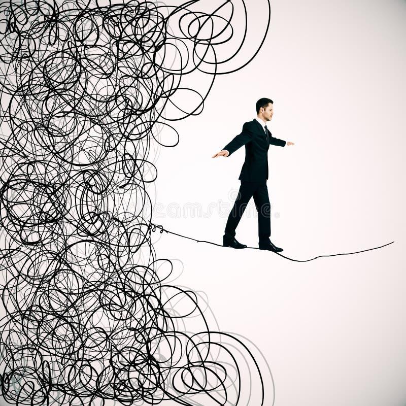 Labirinto e conceito do desafio do negócio ilustração royalty free
