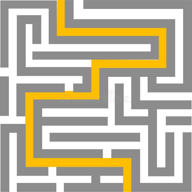 Labirinto - editable ilustração royalty free