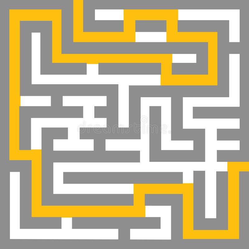 Labirinto - editable ilustração stock