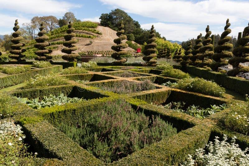 Labirinto elegante del giardino fotografie stock