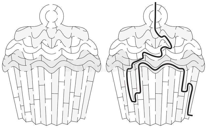 Labirinto facile del bigné illustrazione di stock