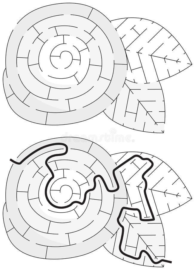 Labirinto facile del fiore royalty illustrazione gratis