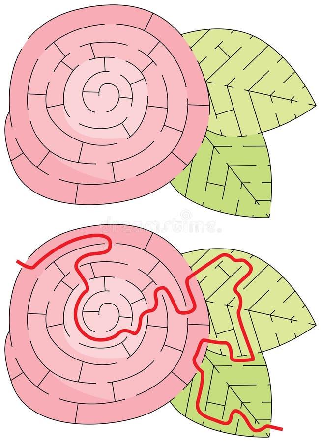 Labirinto facile del fiore illustrazione vettoriale