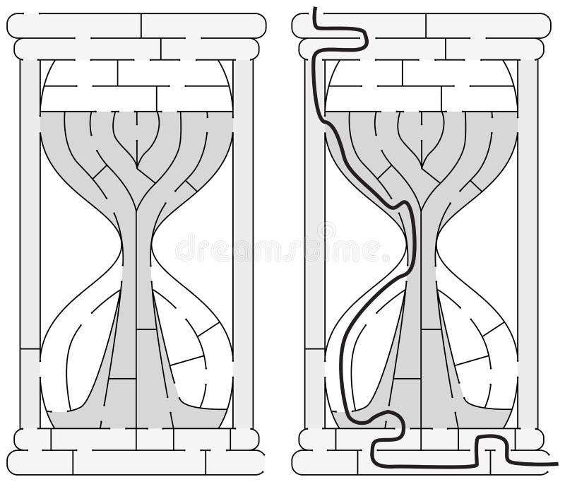 Labirinto facile della clessidra royalty illustrazione gratis
