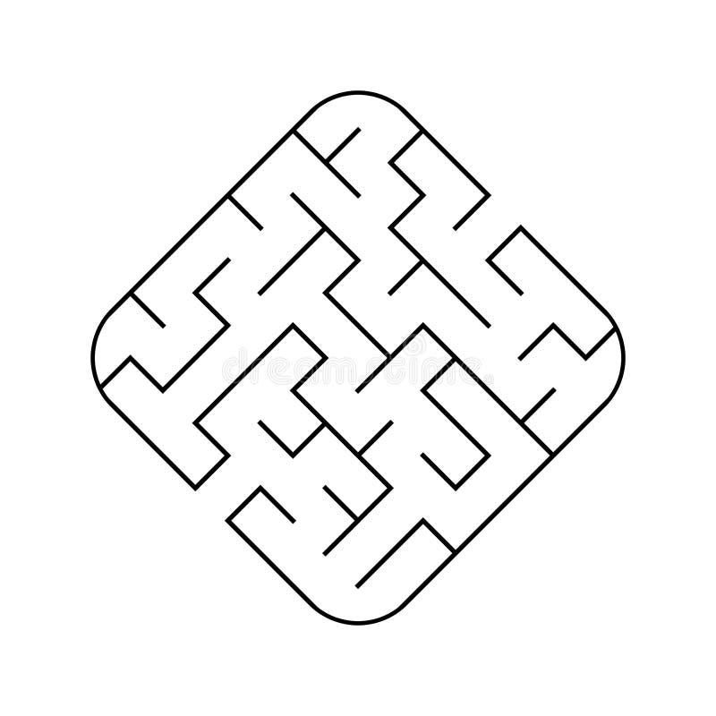 Labirinto facile Gioco per i bambini Puzzle per i bambini Enigma del labirinto Illustrazione di vettore royalty illustrazione gratis