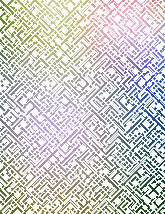 Labirinto futurista ilustração stock