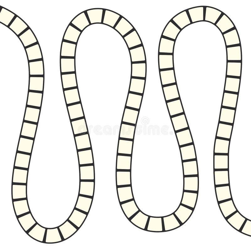 Labirinto futurista abstrato, molde para os jogos do ` s das crianças, contorno preto do teste padrão de ziguezague dos quadrados ilustração royalty free