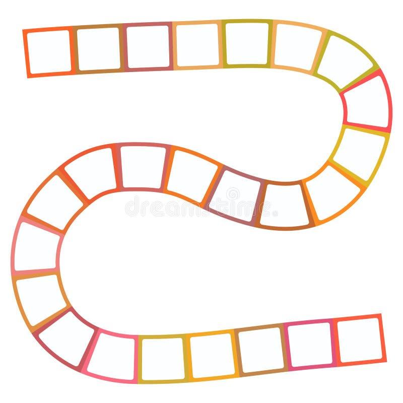 Labirinto futuristico astratto, modello del modello per i giochi del ` s dei bambini, quadrati arancio bianchi su fondo bianco Ve royalty illustrazione gratis