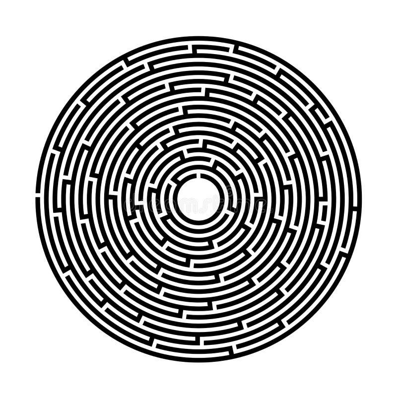 Labirinto, gioco, spettacolo, puzzle, immagine di vettore illustrazione vettoriale