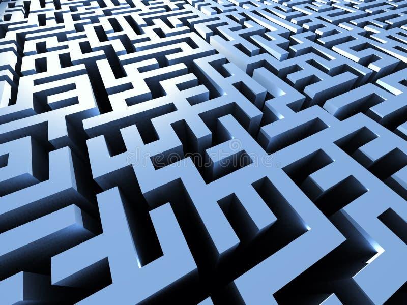 Labirinto Mystical ilustração royalty free