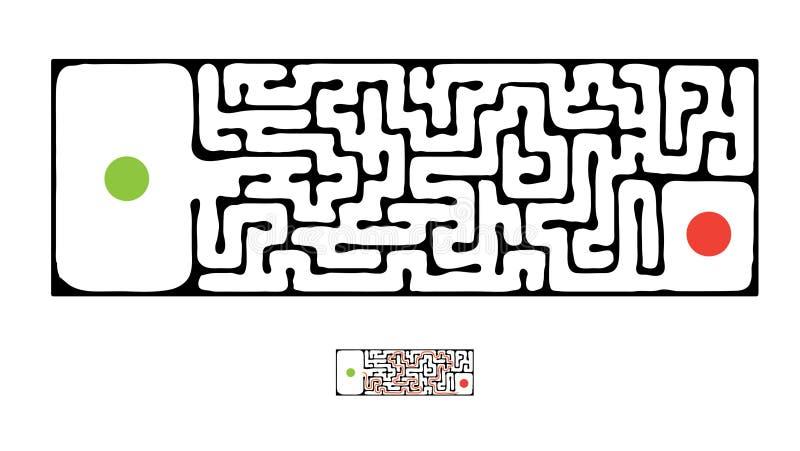 Labirinto nero di vettore illustrazione vettoriale