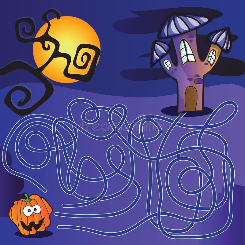 Labirinto para miúdos ilustração do vetor