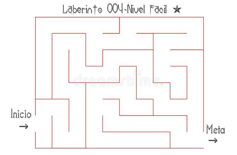 Labirinto para resolver fácil imagem de stock