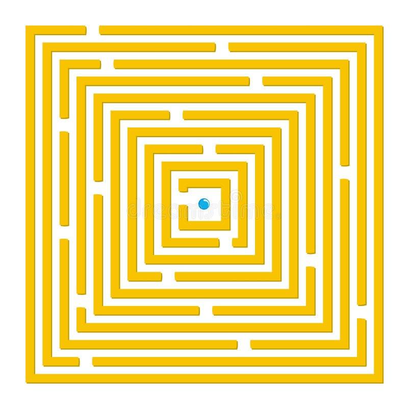 Labirinto quadrado ilustração stock
