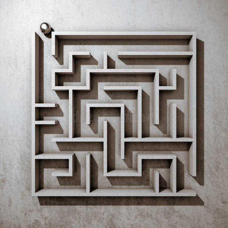 Labirinto quadrato royalty illustrazione gratis