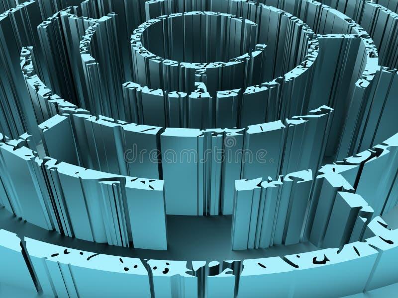 Labirinto resistido e oxidado ilustração stock