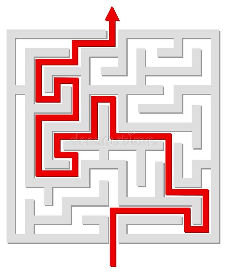 Labirinto risolto illustrazione vettoriale