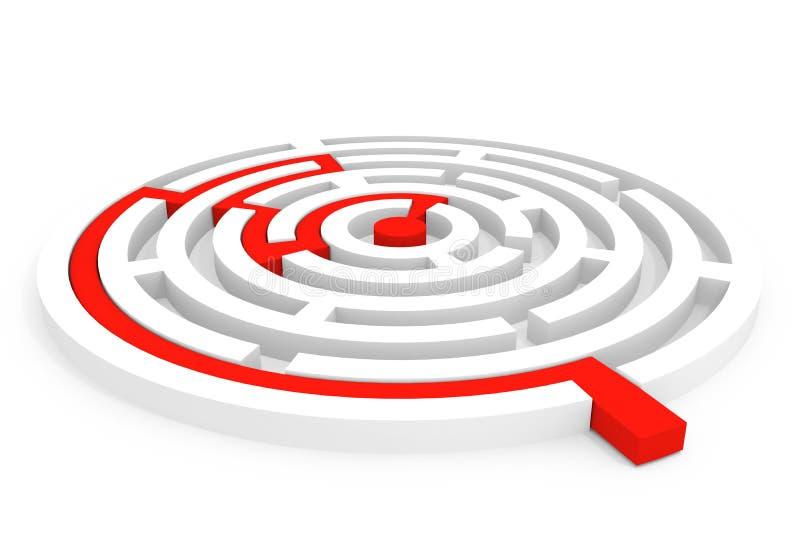 Labirinto rotondo illustrazione di stock