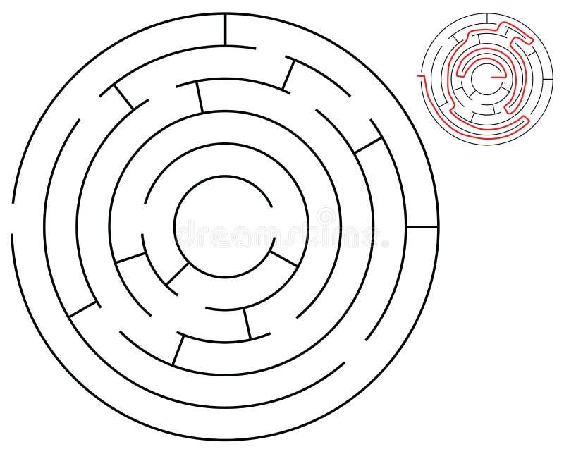 Labirinto rotondo royalty illustrazione gratis