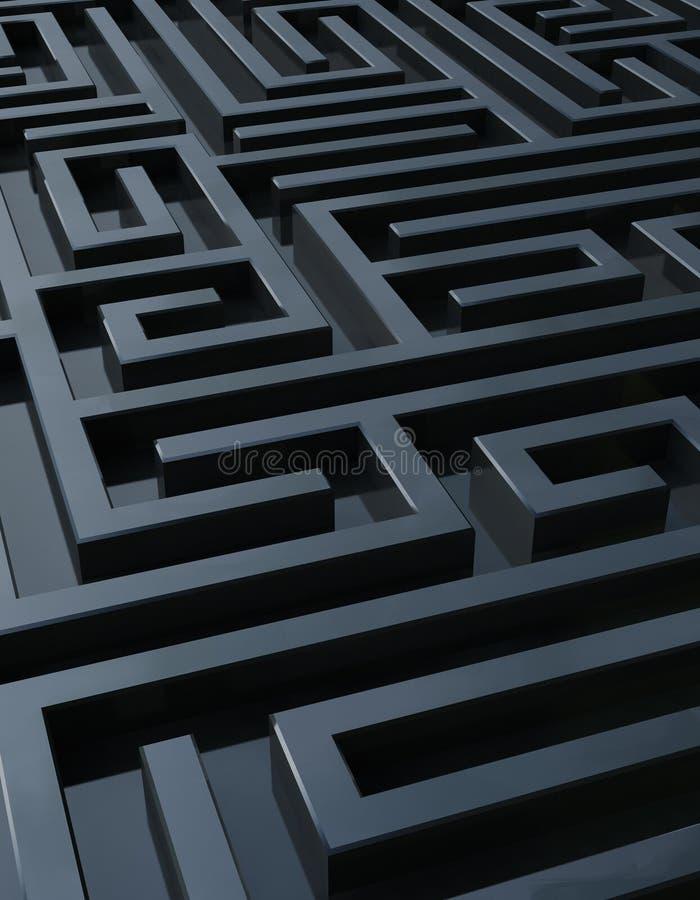 Labirinto scuro illustrazione di stock