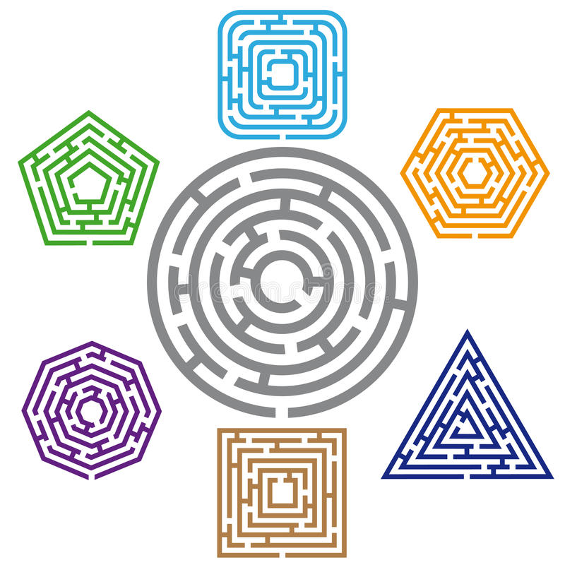 Labirinto sete ilustração do vetor