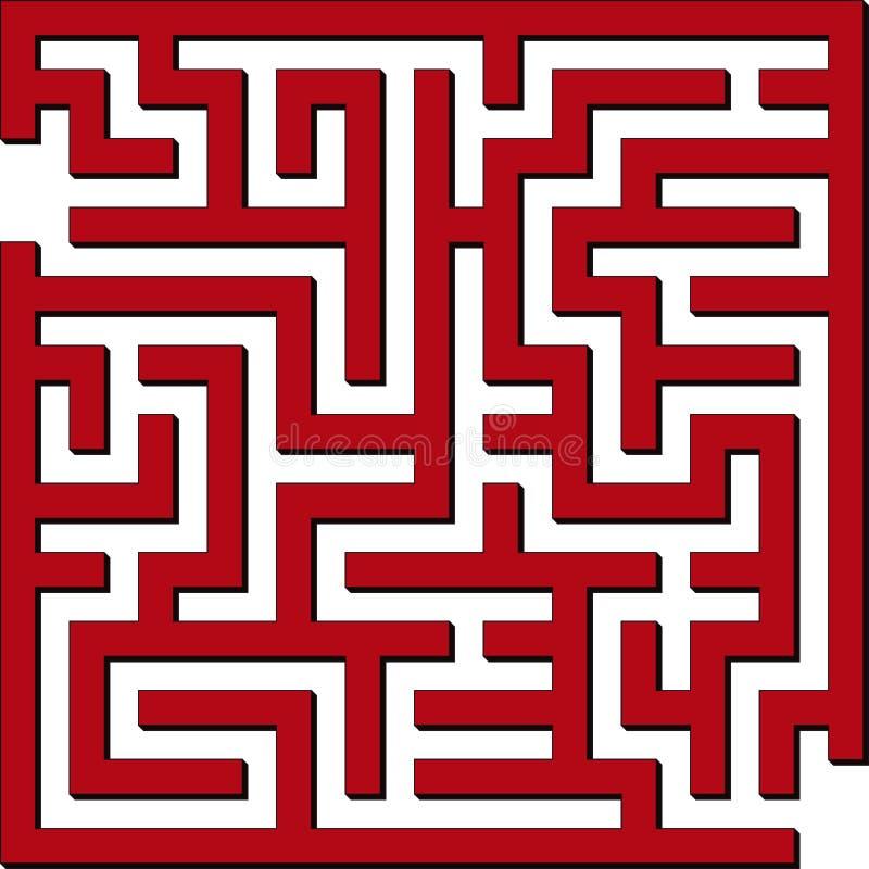 Labirinto simples ilustração royalty free