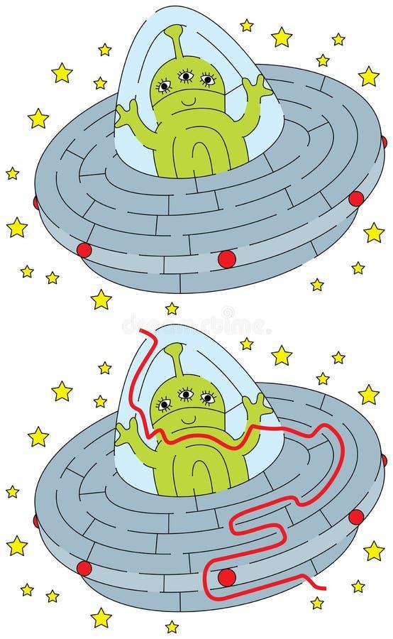 Labirinto straniero facile illustrazione di stock